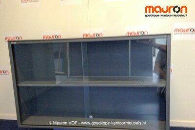 Roldeurkast ahrend antraciet 71x120x35cmb glas for Ahrend ladeblok prijs