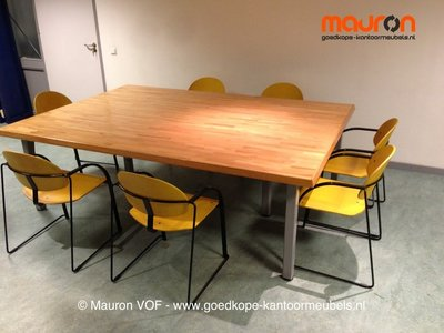Conferentietafel 244 166 72 grenen tweedehands ahrend for Grenen ladeblok